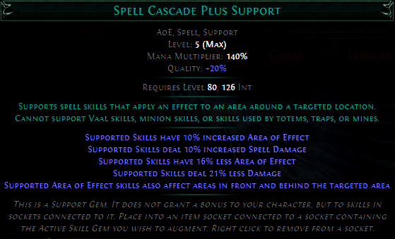 Spell Cascade Plus Support