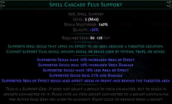 Spell Cascade Plus Support