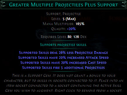 Greater Multiple Projectiles Plus Support