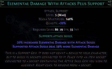 Elemental Damage with Attacks Plus Support